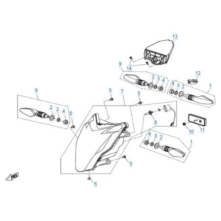 Внешние световые приборы для CFMOTO 400 NK (ABS)
