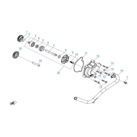 Водяной насос двигателя 2V91Y (U10)