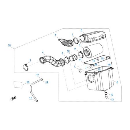 Воздушный фильтр v2 двигателя 191R(A)