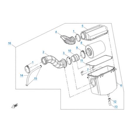 Воздушный фильтр двигателя 191Q