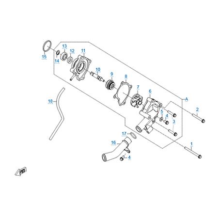 Водяной насос двигателя CF188