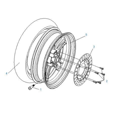 Заднее колесо для CFMOTO 250 JETMAX
