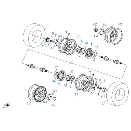Задние колеса для CFMOTO Z10 EFI&EPS