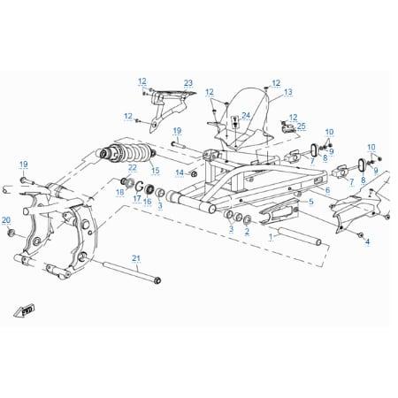 Задняя подвеска для CFMOTO 400 NK (ABS)