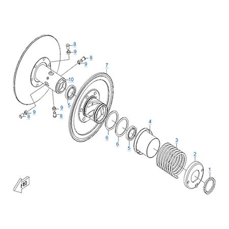 Ведомый шкив вариатора двигателя CF188