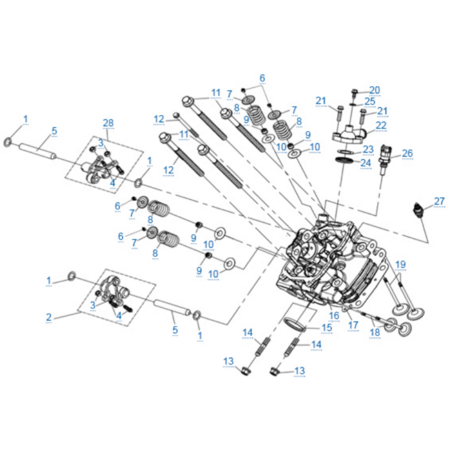 Головка цилиндра 1 двигателя 2V91Y (ZFORCE 1000 Sport)