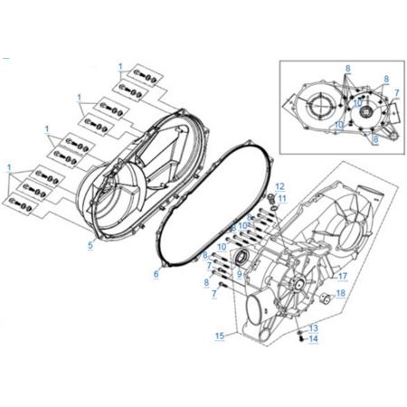 Корпус вариатора двигателя 2V91Y (ZFORCE 1000 Sport)