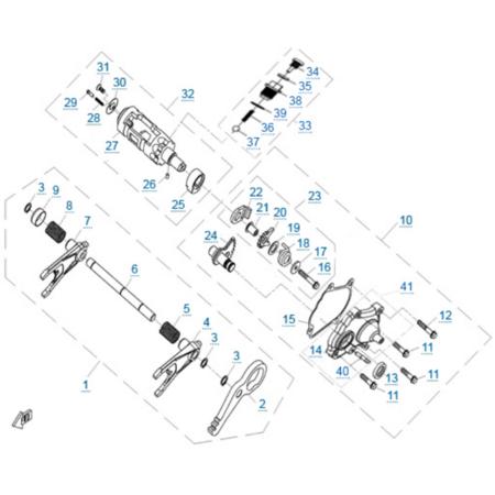 Кпп 3 двигателя 2V91Y (ZFORCE 1000 Sport)