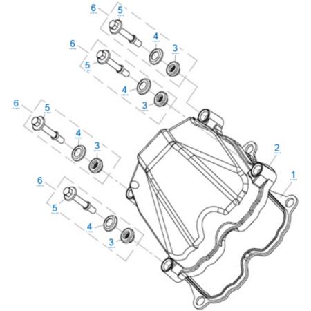 Крышка головки цилиндра двигателя 2V91Y (ZFORCE 1000 Sport)