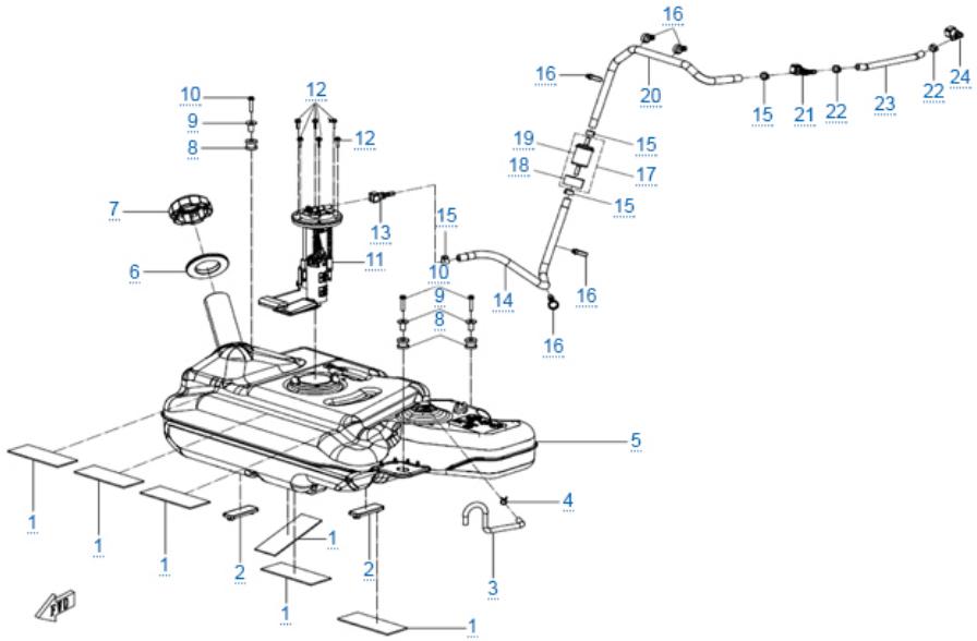 Топливная система для ZFORCE 1000 SPORT EPS