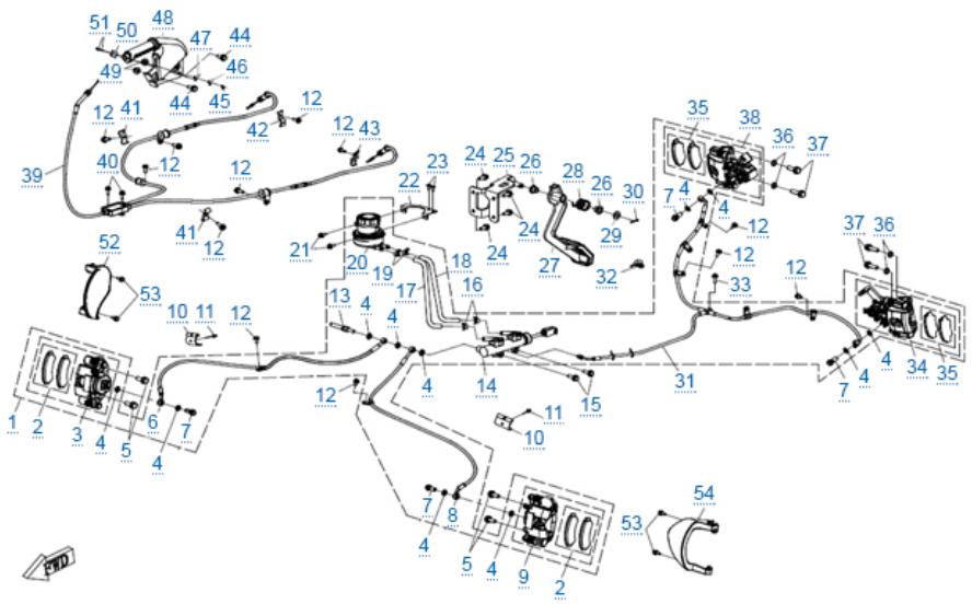 Тормозная система для ZFORCE 1000 SPORT EPS