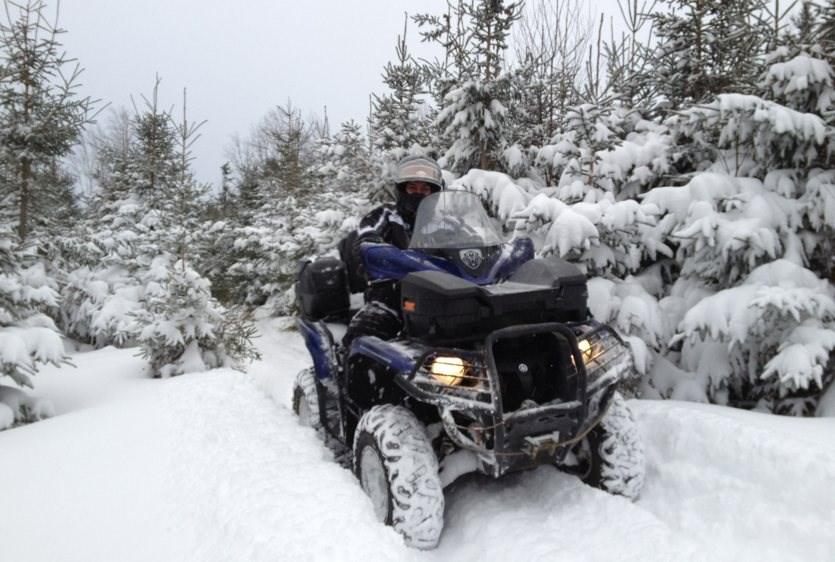 Правила эксплуатации квадроцикла зимой